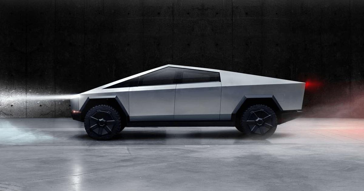 Cybertruck 原型車紐約展出 車側環景攝影機隱藏在這